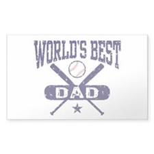 World's Best Baseball Dad Decal