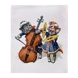 Christmas Musical Cats Throw Blanket