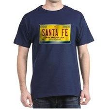 """SANTA FE"" New Mexico License Plate T-Shirt"