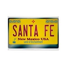 """SANTA FE"" New Mexico License Plate Rectangle Magn"