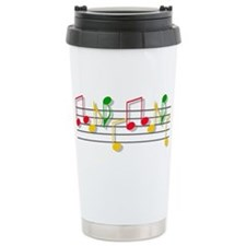 Musical Notes Ceramic Travel Mug