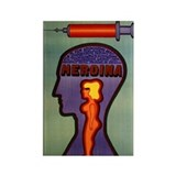Heroina Heroin Syringe Movie Poster Magnet