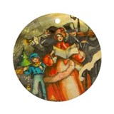 Christmas Carolers Ornament (Round)