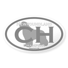 Champion (CH) Oval Decal