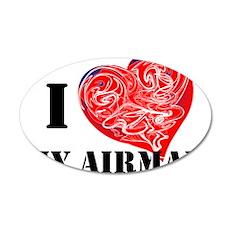 military valentine 38.5 x 24.5 Oval Wall Peel