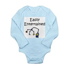 Easily Entertained Long Sleeve Infant Bodysuit