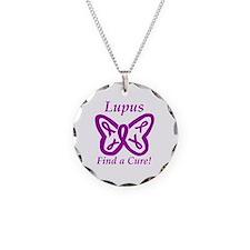 Cool Lupus typographic Necklace