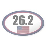 United States full marathon oval sticker