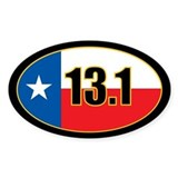Texas Half Marathon oval sticker 13.1 miles