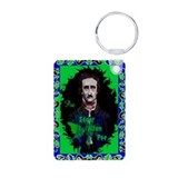Edgar Allan Poe Aluminum Photo Keychain