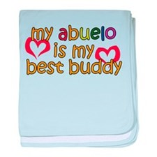 Abuelo is My Best Buddy baby blanket