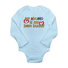 Abuelo is My Best Buddy Long Sleeve Infant Bodysui