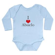 I Love (Heart) Abuelo Long Sleeve Infant Bodysuit