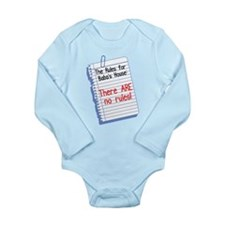 No Rules at Baba's House! Long Sleeve Infant Bodys