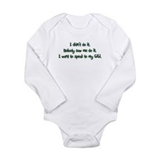 Want to Speak to GiGi Long Sleeve Infant Bodysuit
