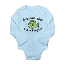 Gramma Says I'm a Keeper Long Sleeve Infant Bodysu