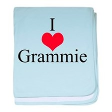 I Love (Heart) Grammie baby blanket