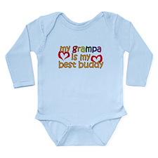 Grampa is My Best Buddy Long Sleeve Infant Bodysui