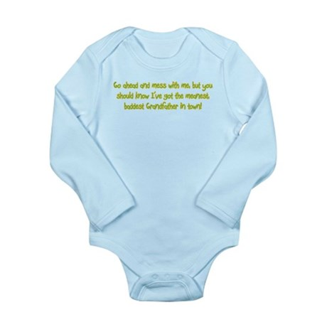One Mean Grandfather! Long Sleeve Infant Bodysuit
