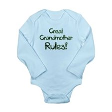Great Grandmother Rules! Long Sleeve Infant Bodysu