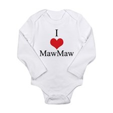 I Love (Heart) Maw Maw Long Sleeve Infant Bodysuit