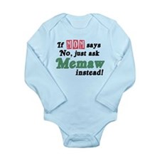 Just Ask Memaw! Long Sleeve Infant Bodysuit