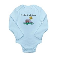 Rather be with Memaw Long Sleeve Infant Bodysuit