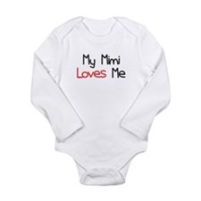 My Mimi Loves Me Long Sleeve Infant Bodysuit