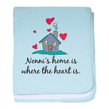Nonni's Home is Where the Hea baby blanket