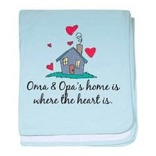 Oma & Opa's Home is Where the baby blanket