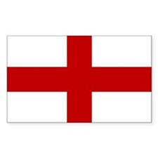 Flag of England Sticker (Rect.)