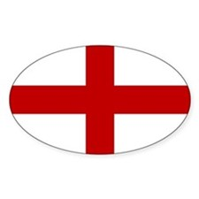 Flag of England Oval Decal