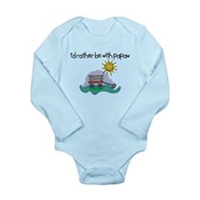 I'd Rather be with Papaw Long Sleeve Infant Bodysu
