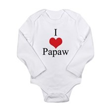 I Love (Heart) Papaw Baby Outfits