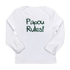 Papou Rules! Long Sleeve Infant T-Shirt