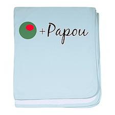 Olive Papou baby blanket