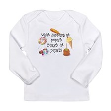 What Happens at Pepa's..... Long Sleeve Infant T-S