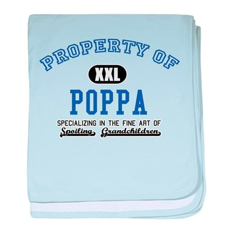 Property of Poppa baby blanket