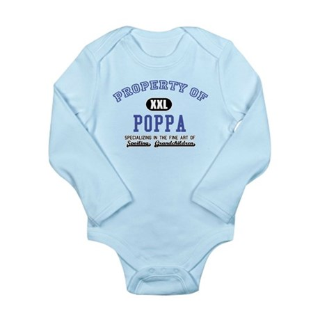 Property of Poppa Long Sleeve Infant Bodysuit