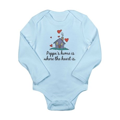 Poppa's Home is Where the Hea Long Sleeve Infant B