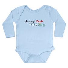 Mommy's Devil, YaYa's Angel Long Sleeve Infant Bod