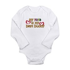 YaYa is My Best Buddy Long Sleeve Infant Bodysuit