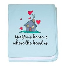 YiaYia's Home is Where the He baby blanket