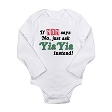 Just Ask YiaYia! Long Sleeve Infant Bodysuit