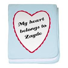 My Heart Belongs to Zayde baby blanket