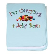 Carrying a Jelly Bean baby blanket