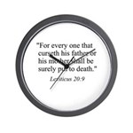 Leviticus 20:9 Wall Clock