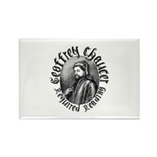 Geoffrey Chaucer Rectangle Magnet (100 pack)