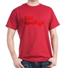 Real Mandingo (Red) Black T-Shirt