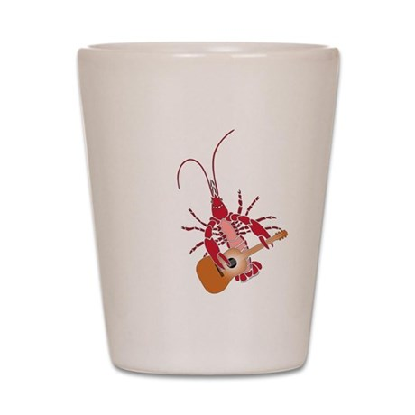 Crayfish Guitarist Shot Glass